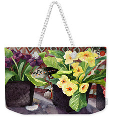 Flowers And Eagle Feathers Weekender Tote Bag