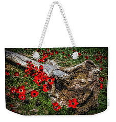 Flowers And Monster Weekender Tote Bag