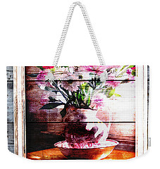 Flowers And Wood Weekender Tote Bag