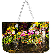Flowers For Sale At Campo De Fiori - My Favourite Market In Rome Italy Weekender Tote Bag