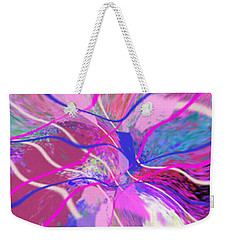 Original Contemporary Abstract Art Flowers From Heaven Weekender Tote Bag