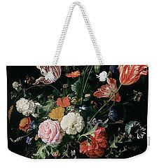 Flowers In A Glass Vase, Circa 1660 Weekender Tote Bag by Jan Davidsz de Heem