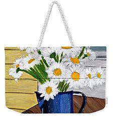 Flowers In A Teapot Weekender Tote Bag by Laura Forde