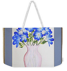 Flowers In A Vase Weekender Tote Bag