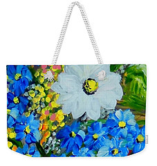 Flowers In A White Vase Weekender Tote Bag