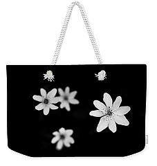 Flowers In Black Weekender Tote Bag by Shane Holsclaw