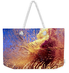 Flowers In Ice Weekender Tote Bag by Randi Grace Nilsberg