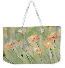 Weekender Tote Bag featuring the painting California Poppies by Maria Langgle