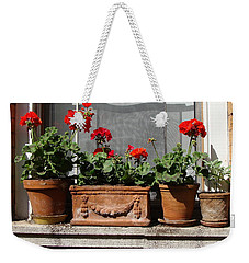Weekender Tote Bag featuring the photograph Flowers Of New York by Ira Shander