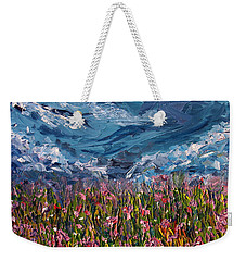 Weekender Tote Bag featuring the painting Flowers Of The Field by Meaghan Troup