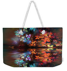 Weekender Tote Bag featuring the painting Flowers Of The Night by Greg Moores