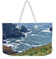 Flowers On Isle Of Guernsey Cliffs Weekender Tote Bag