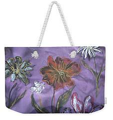 Flowers On Silk Weekender Tote Bag