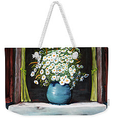 Flowers On The Ledge Weekender Tote Bag