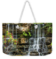 Weekender Tote Bag featuring the photograph Flowing Falls by Dave Files