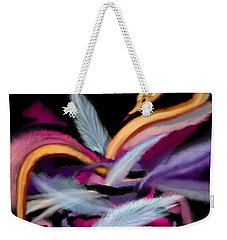 Fluff Weekender Tote Bag by Christine Fournier