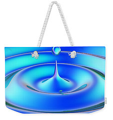 Weekender Tote Bag featuring the digital art Fluidum 1 by Andreas Thust