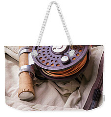 Fly Fishing Still Life Weekender Tote Bag by Edward Fielding
