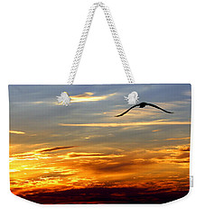 Weekender Tote Bag featuring the photograph Fly Free by Faith Williams
