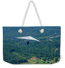 Weekender Tote Bag featuring the photograph Flyin High by Susan  McMenamin