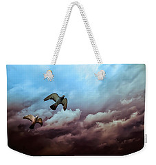 Flying Before The Storm Weekender Tote Bag by Bob Orsillo