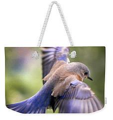 Flying Bluebird Weekender Tote Bag