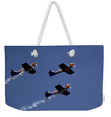Weekender Tote Bag featuring the photograph Flying Bulls by Ramabhadran Thirupattur