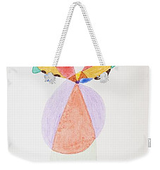 Weekender Tote Bag featuring the painting Flying Colors by Stormm Bradshaw