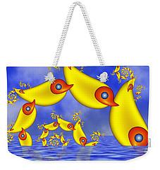Weekender Tote Bag featuring the digital art Jumping Fantasy Animals by Gabiw Art