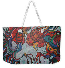Flying Feathers Weekender Tote Bag by Tracey Harrington-Simpson