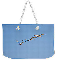 Flying Formation Weekender Tote Bag by John M Bailey