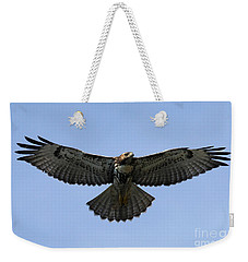 Flying Free - Red-tailed Hawk Weekender Tote Bag by Meg Rousher