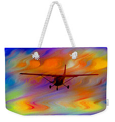 Flying Into A Rainbow Weekender Tote Bag