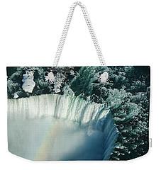 Flying Over Icy Niagara Falls Weekender Tote Bag by Georgia Mizuleva