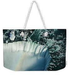 Flying Over Icy Niagara Falls Weekender Tote Bag