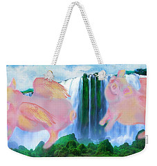 Flying Pigs Weekender Tote Bag