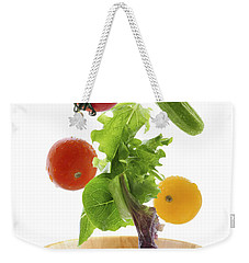 Flying Salad Weekender Tote Bag by Elena Elisseeva