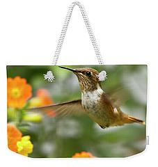 Flying Scintillant Hummingbird Weekender Tote Bag