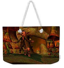 Weekender Tote Bag featuring the digital art Flying Through A Wonderland by Gabiw Art