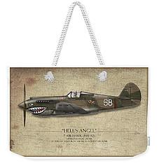Flying Tiger P-40 Warhawk - Map Background Weekender Tote Bag