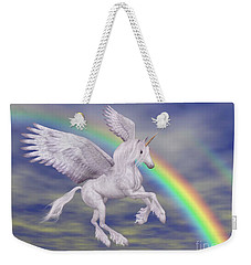 Flying Unicorn And Rainbow Weekender Tote Bag