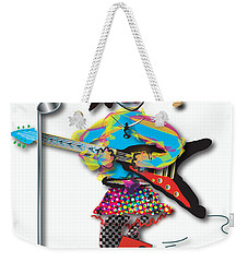 Weekender Tote Bag featuring the digital art Flying V Girl by Marvin Blaine