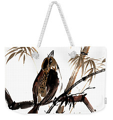 Weekender Tote Bag featuring the painting Focus by Bill Searle
