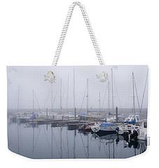 Fog In Marina I Weekender Tote Bag