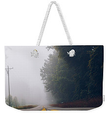 Fog On Highway Weekender Tote Bag