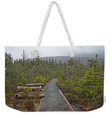 Fog On The Trail Weekender Tote Bag by Cathy Mahnke
