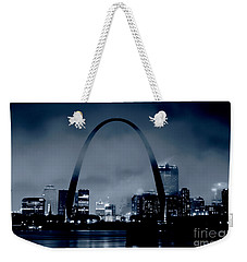 Fog Over St Louis Monochrome Weekender Tote Bag