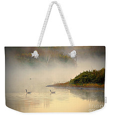 Foggy Autumn Swim Weekender Tote Bag