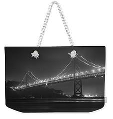 Foggy Bay Bridge Weekender Tote Bag