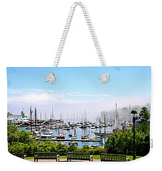 Foggy Camden Weekender Tote Bag by Corinne Rhode